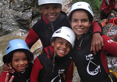 Canyoning famille