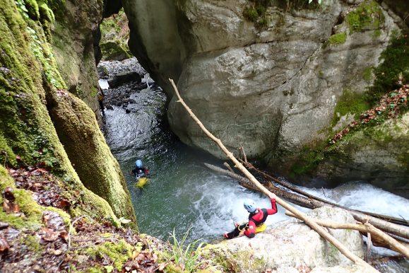 Canyoning à Montmin Haute-Savoie