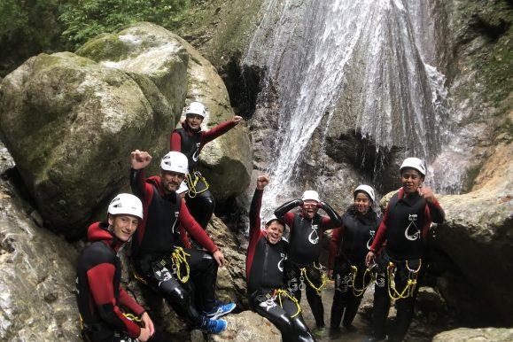 Groupe Montmin ospeed canyoning